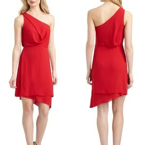BCBG Max Azria Somara Drape One Shoulder Dress